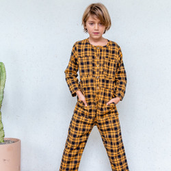 Nico Nico : Atticus Flannel Jumpsuit - Plaid