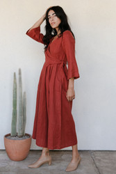 Sugar Candy Mountain : The Marigold Jumpsuit in Brick
