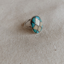 Navajo : Vintage Four Diamond Ring