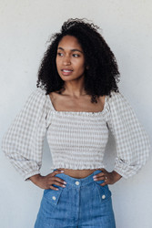 Rachel Pally : Linen Reign Top in Gingham