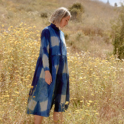 Ichi Antiquites : Hand Dyed Itajime Dress