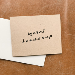Wilde House Paper : Merci Beaucoup Card