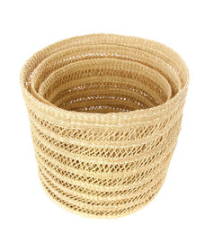 Midland : Lace Weave Basket Bins - Set of Three