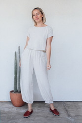 Rachel Pally : Linen Tatum Pant in Natural