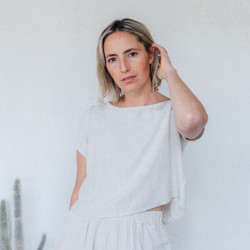 Rachel Pally : Linen Keith Top in Natural