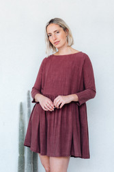 Rachel Pally : Linen Ruthie Dress in Brick