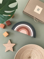 Sabo : Wooden Stacking Rainbow in Grass