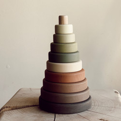Sabo : Wooden Stacker Ring Toy in Olive