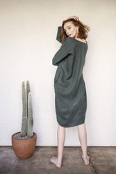 Rachel Craven : Short Cocoon Dress Midland Green