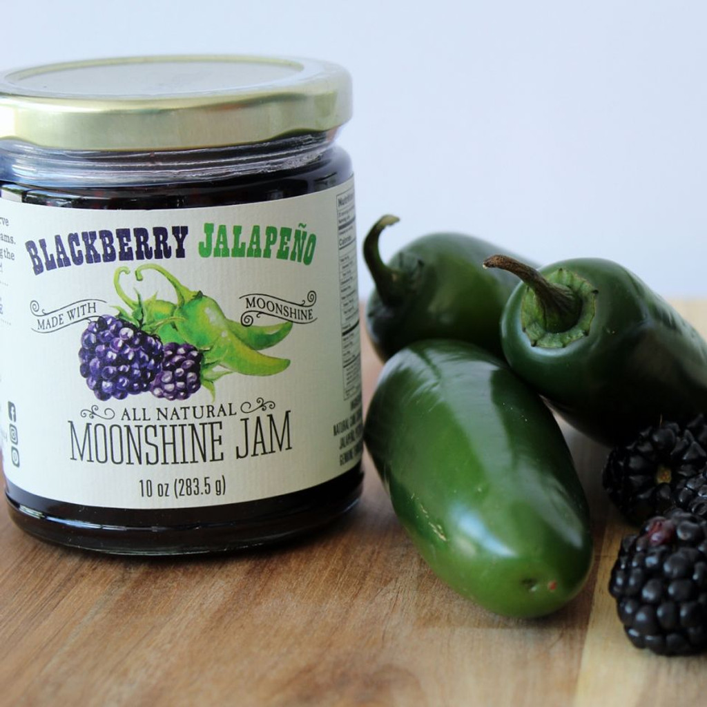 Blackberry Jalapeño Moonshine Jam
