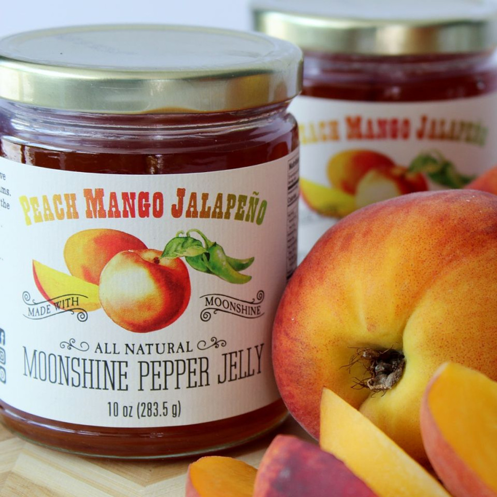 Peach Mango Jalapeño Moonshine Jam