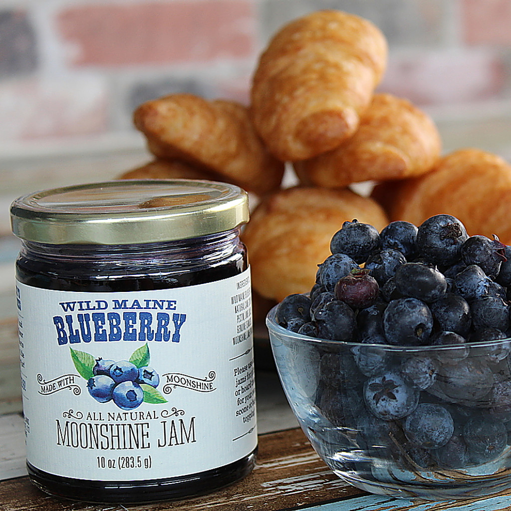 Wild Maine Blueberry Moonshine Jam     SOLD OUT