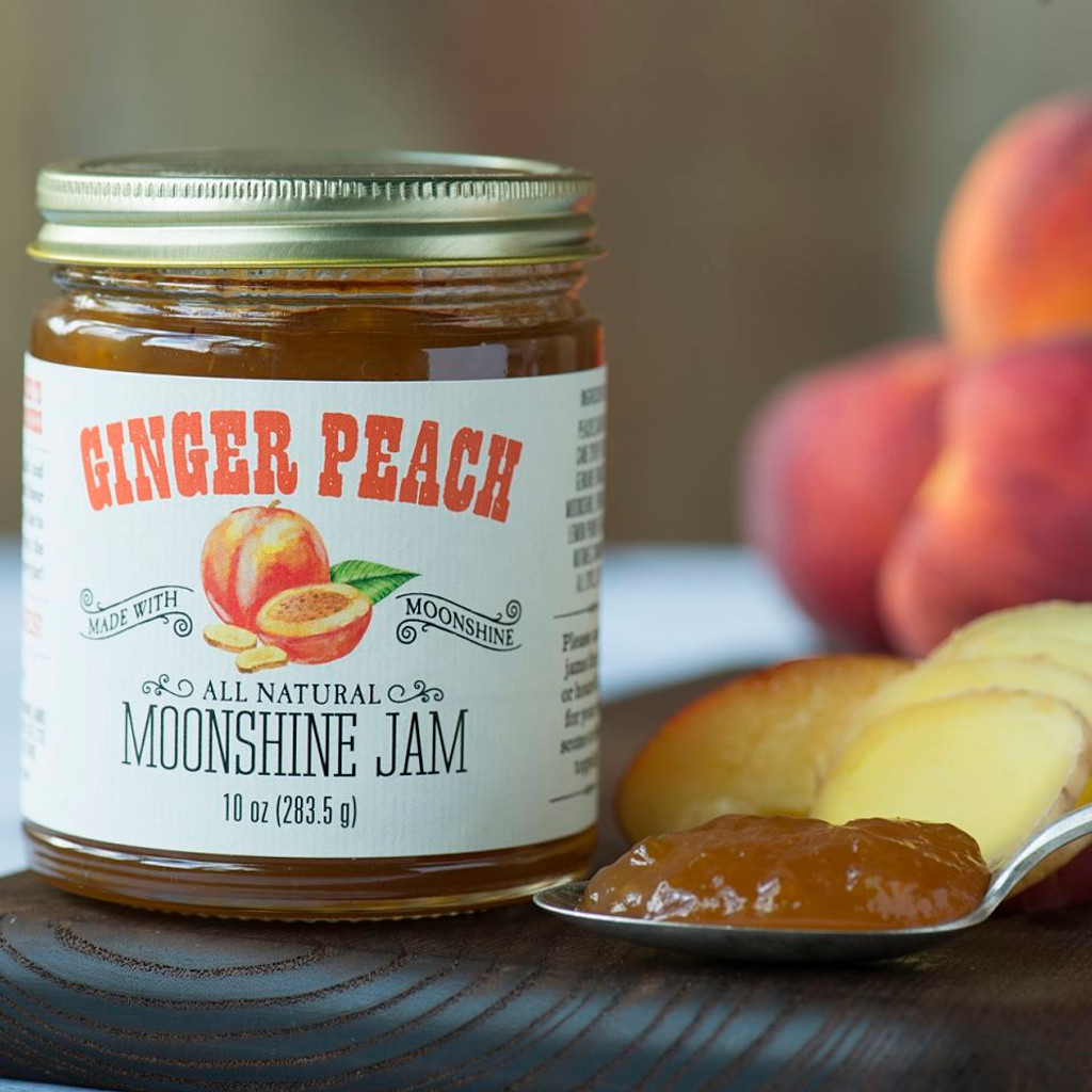 Ginger Peach Moonshine Jam