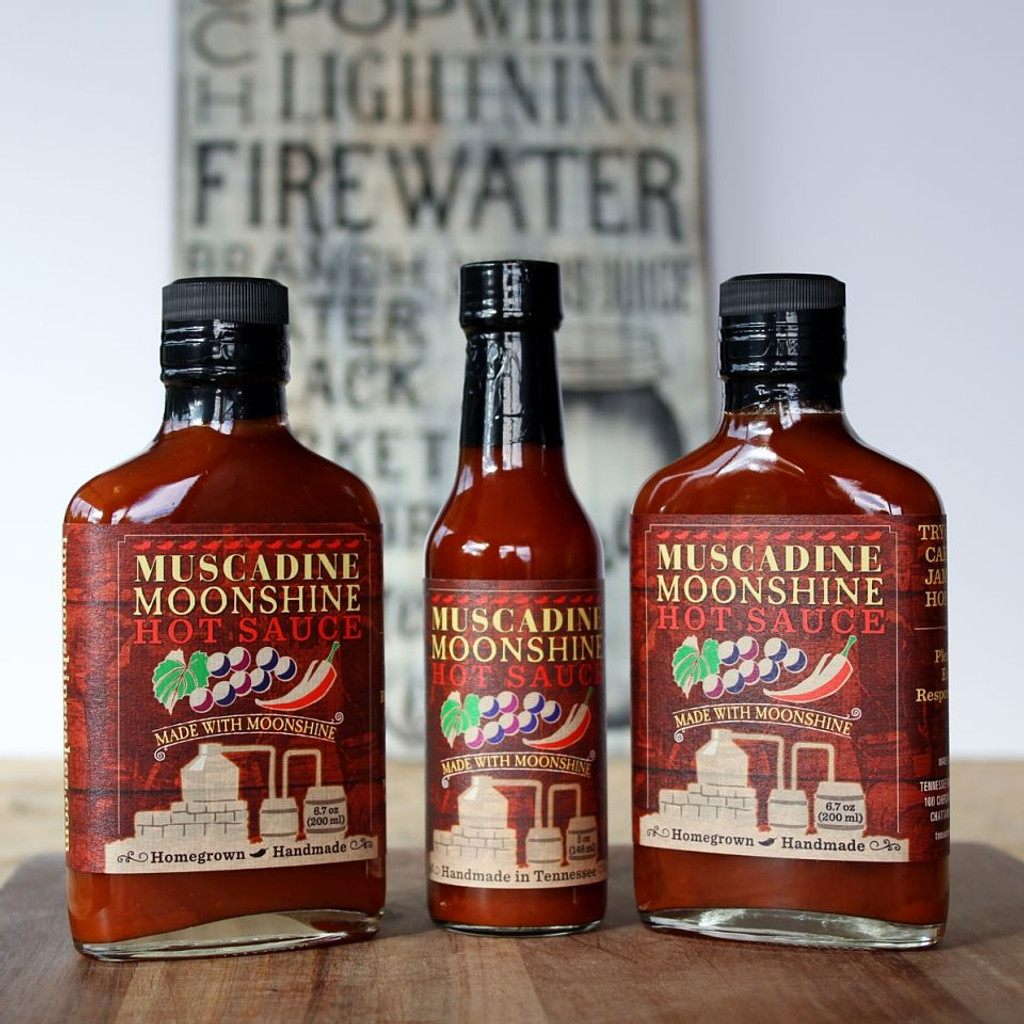 Muscadine Moonshine Hot Sauce -      Set of 3         Save $3