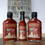 Muscadine Moonshine Hot Sauce -      Set of 3         Save $3