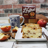 Over the years we've made scores of apple pies, fritters and scones, but this cake is our absolute favorite apple creation. It has everything going for it; it's moist and scrumptiously delicious, it's packed with cinnamony apple nuggets, and not least of all, the moonshine comes out and takes a bow!