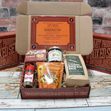 Here's a gift box for the spicy at heart! We've added a trio of born & bred Tennessee treats to our Lil' Shot moonshine cake and award-winning jalapeno jam to take this gift box to another level! Included in our Spice It Up collection is jalapeno cornbread mix from Southern City Flavors in Franklin, Hot & Spicy peanut brittle from Nashville's Brittle Brothers and Red Hot chili pepper sprinkles from Olde Virden's in Knoxville. This one-of-a-kind gift box will be remembered long after the treats have been enjoyed!