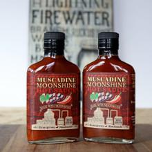 Muscadine Moonshine Hot Sauce   6.7 oz flask