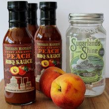 Sweet & Spicy Peach Moonshine BBQ Sauce