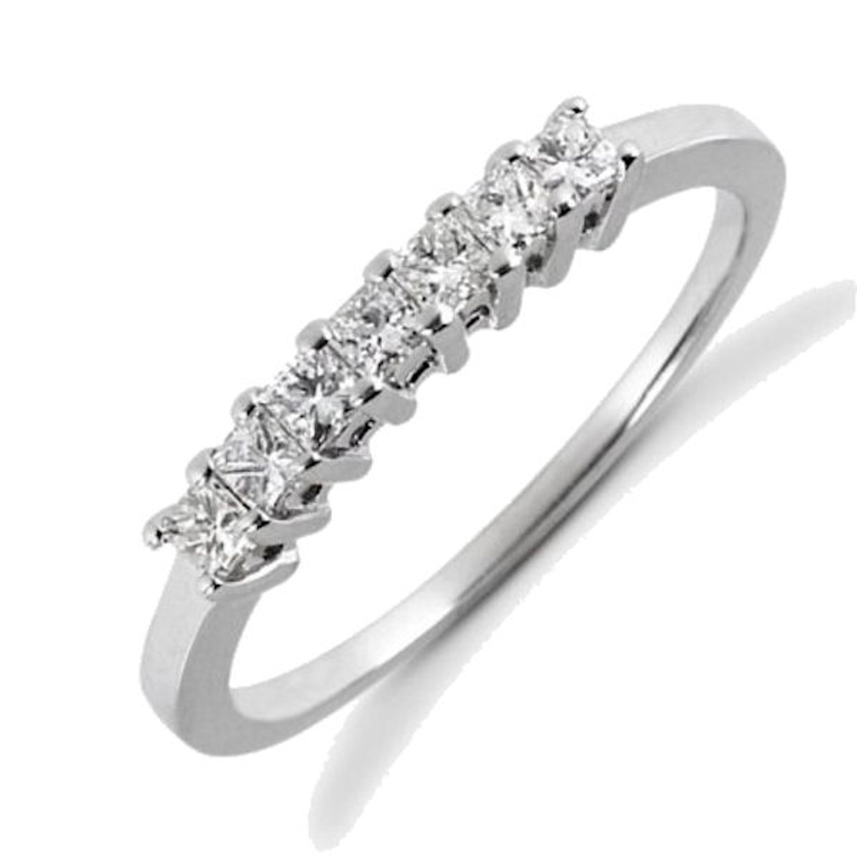 7 stone diamond anniversary ring