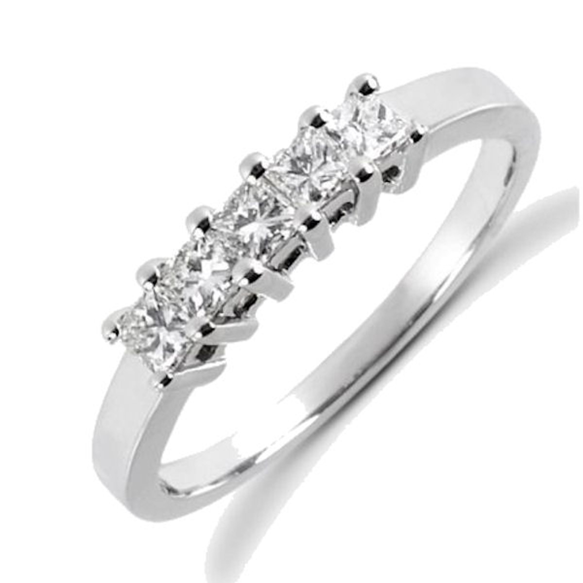 0.50 Ct Tw 5 stone princess cut anniversary ring