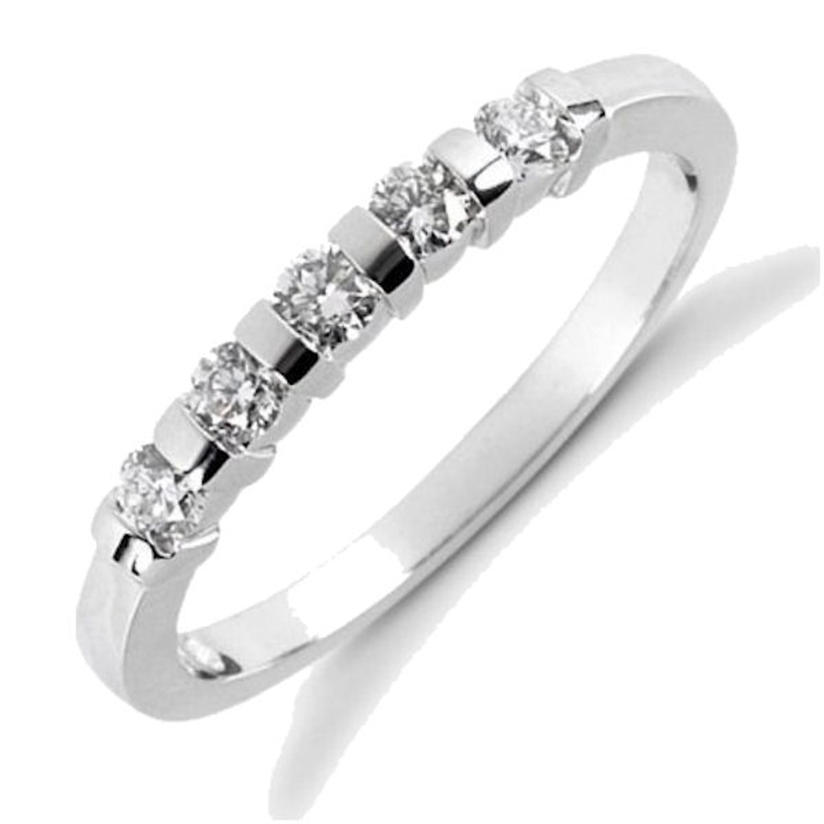 0.25 Ct Tw 5 stone diamond anniversary ring