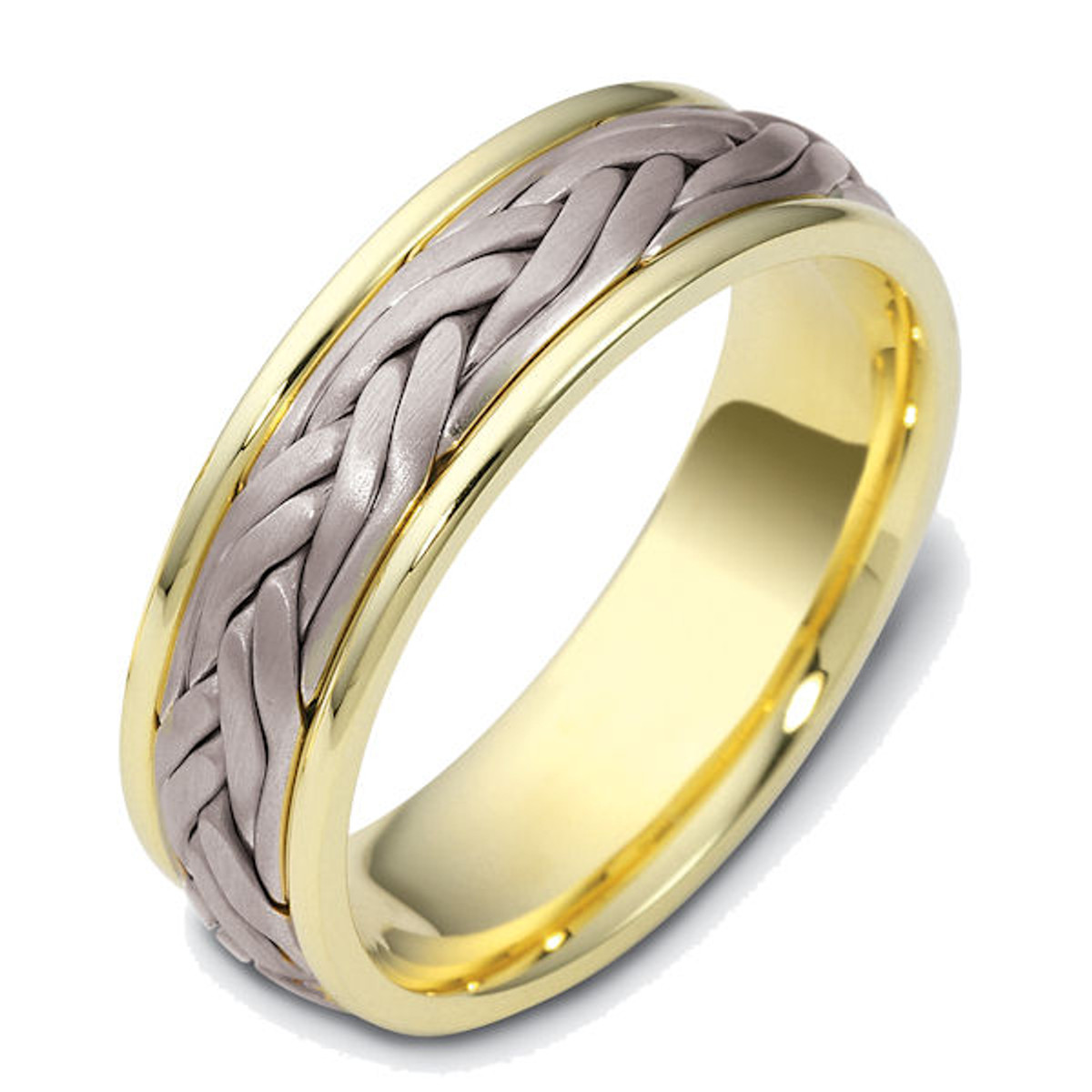 14Kt Two-Tone Hand Crafted Wedding Ring