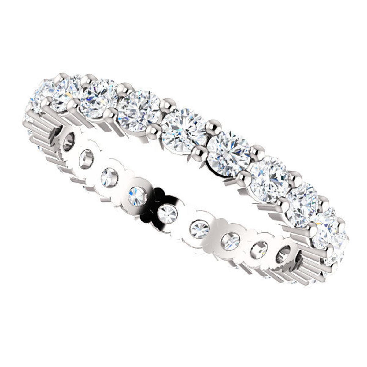 14Kt White Classic Diamond Eternity Ring