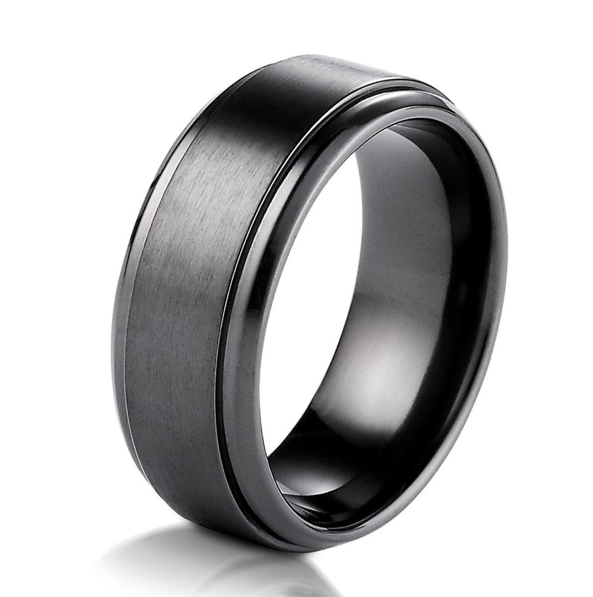 Black Titanium Classic Wedding Ring