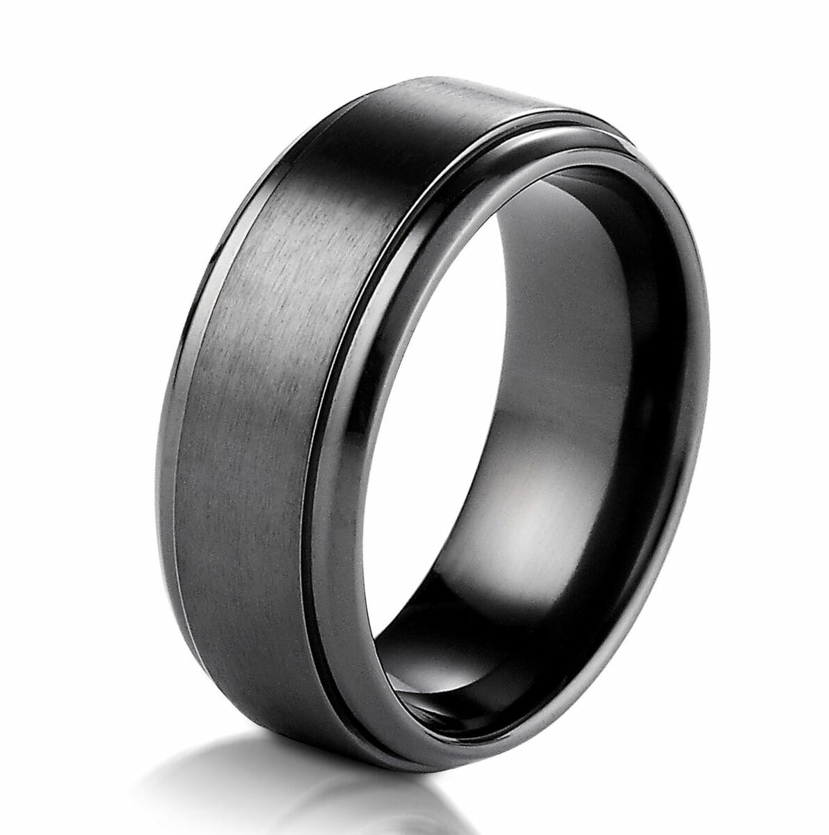 Black Cobalt Chrome Classic Wedding Ring