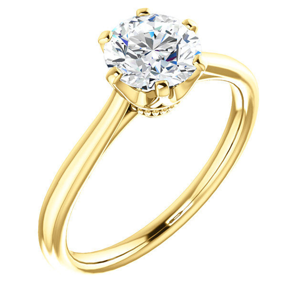 Solitaire 6-Prong Engagement Ring