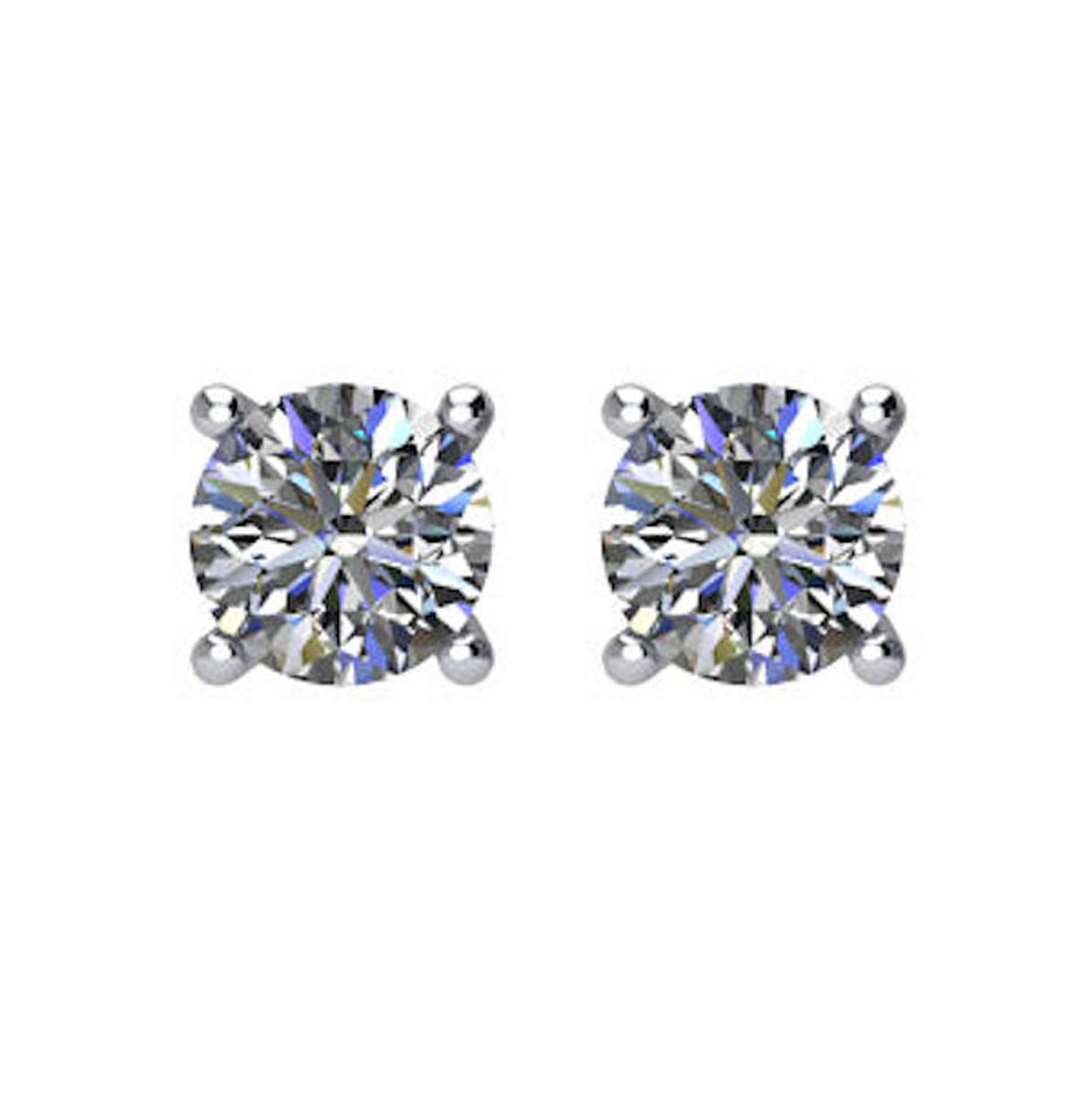 1/5 CT TW Round Diamond Stud Earrings