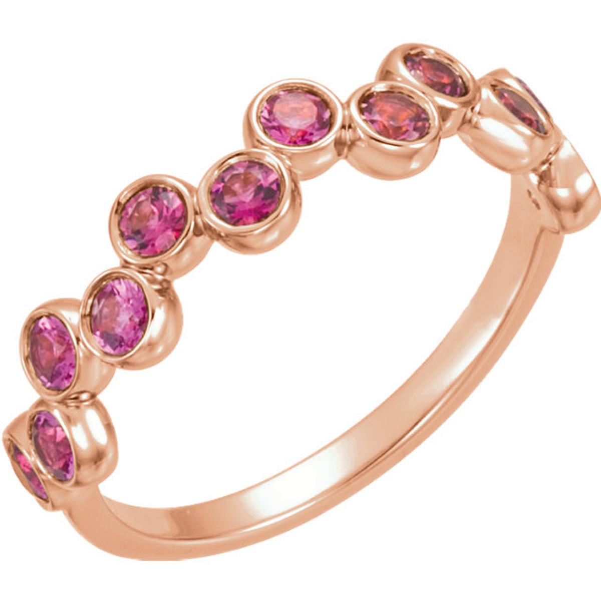 Rose Gold Pink Tourmaline Ring