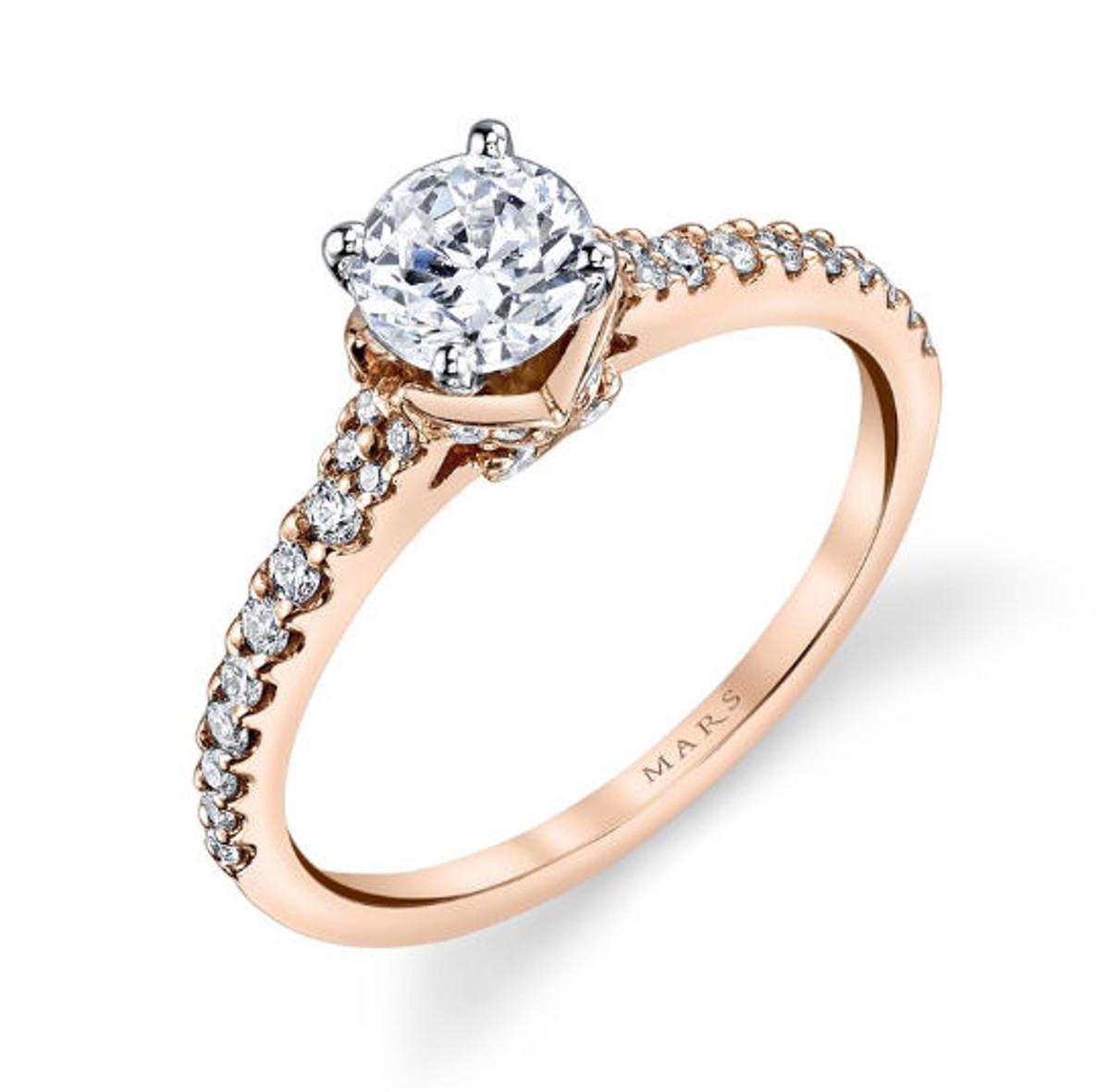 Diamond Pave Engagement Ring