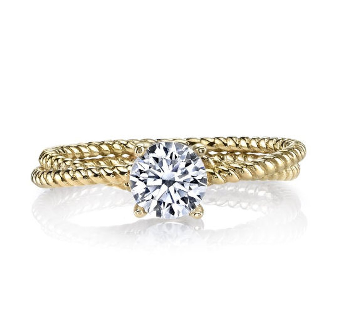 Solitaire Rope Engagement Ring