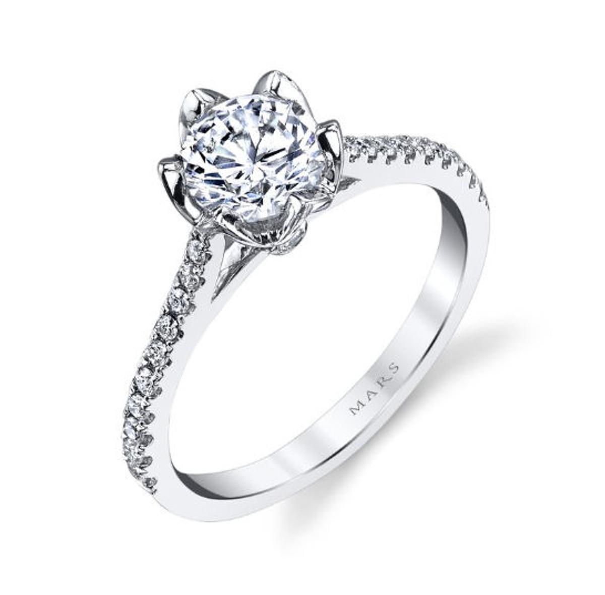 Petal Diamond Engagement Ring