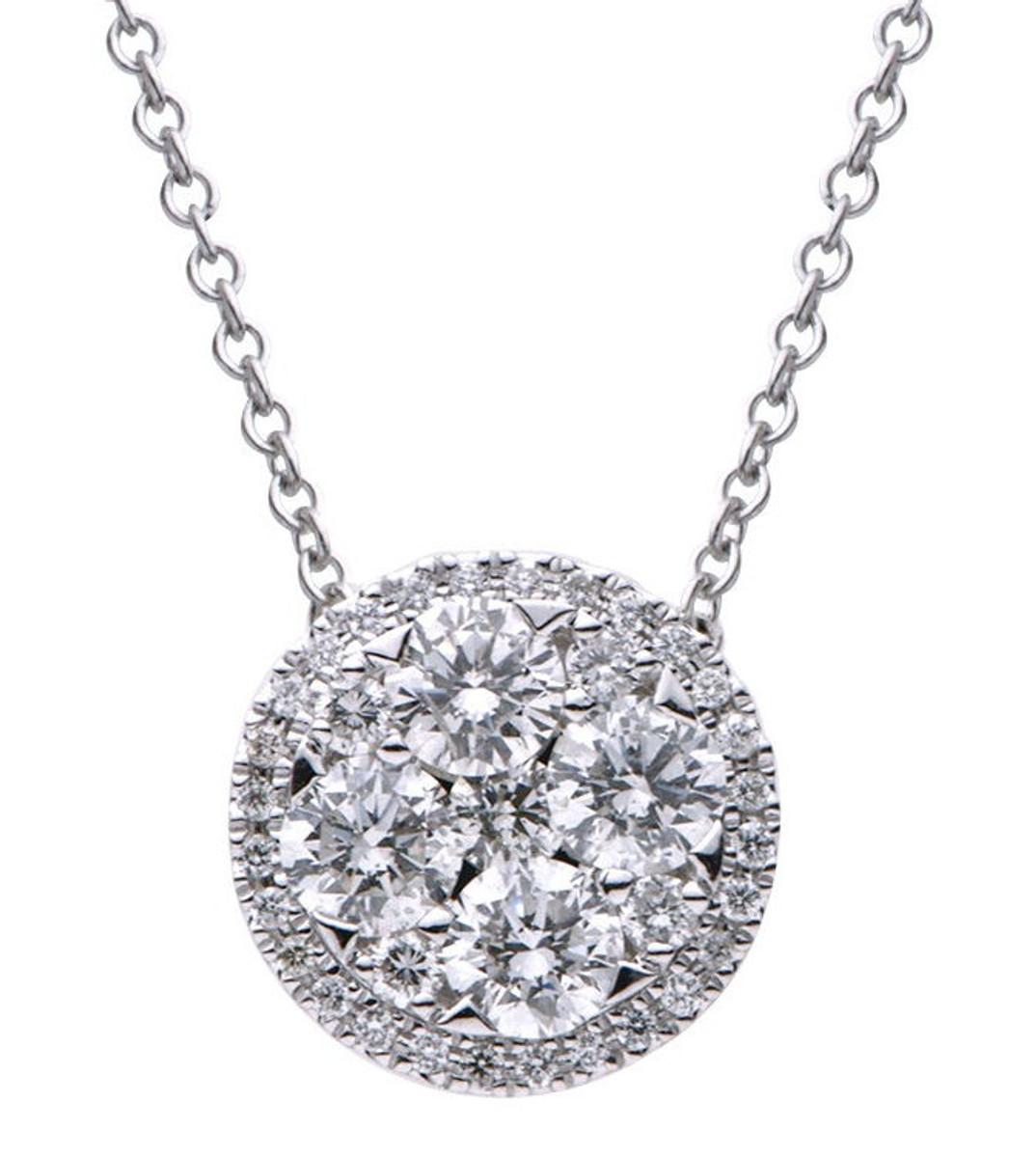 1.03 Ct Tw Diamond Ball Pendant