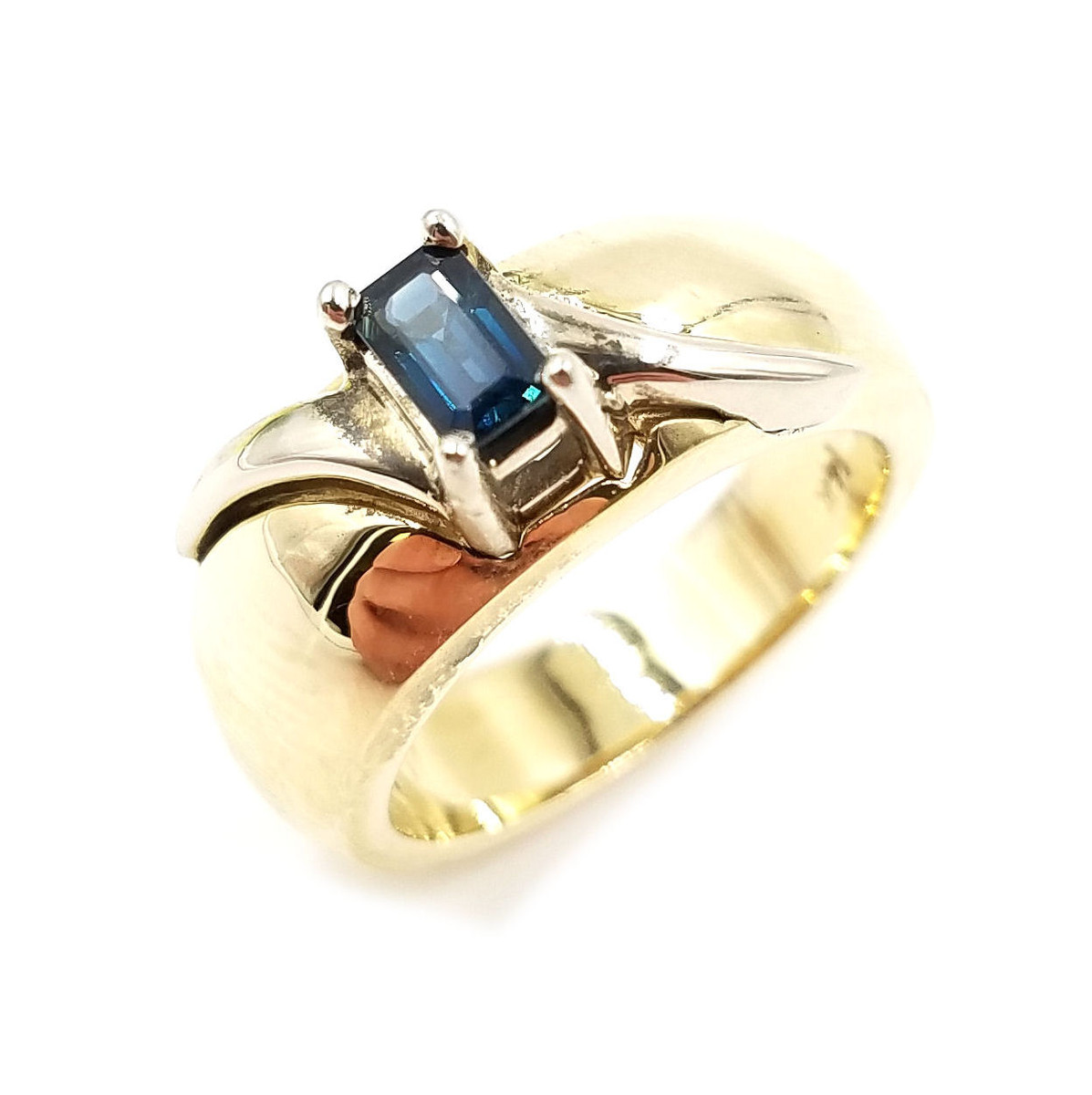 14kt two-tone Genuine Blue Sapphire Ring