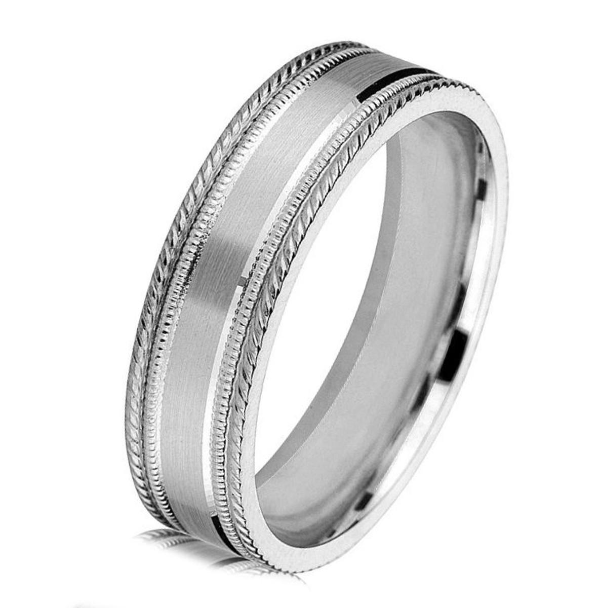 White Gold Classic Wedding Ring