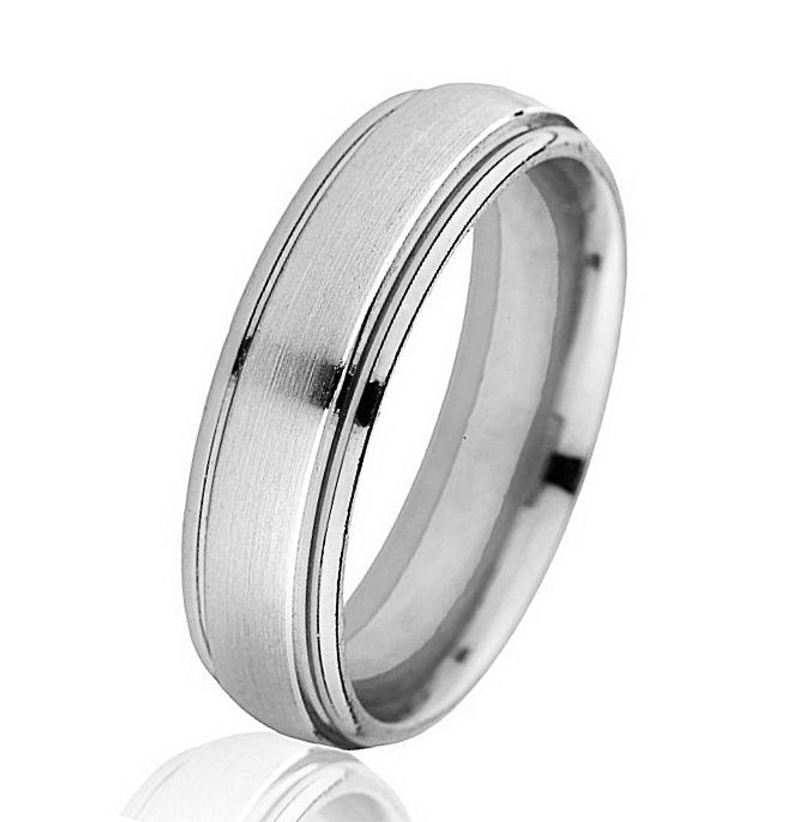 Classic White Gold Comfort Fit Wedding Ring