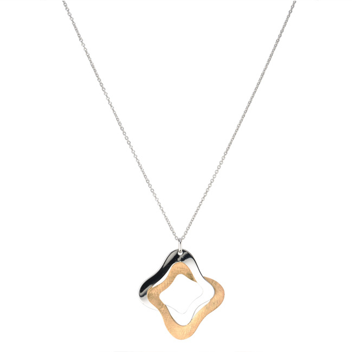 Sterling Silver Gold Overlay Yvonne Necklace, Frederic Duclos