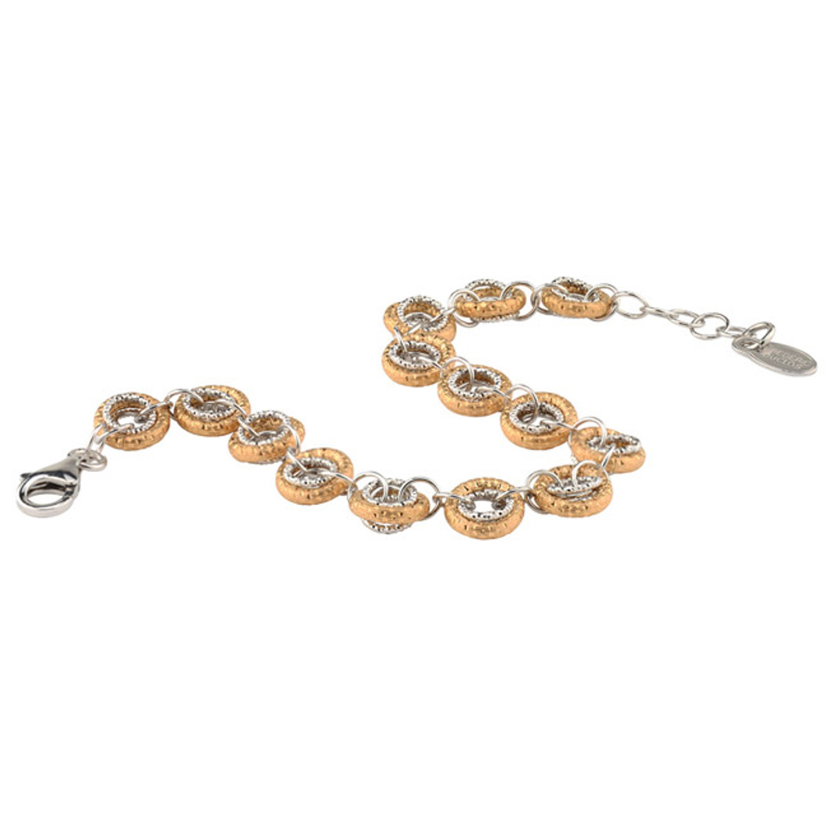 Sterling Silver Gold Overlay Bracelet, Frederic Duclos
