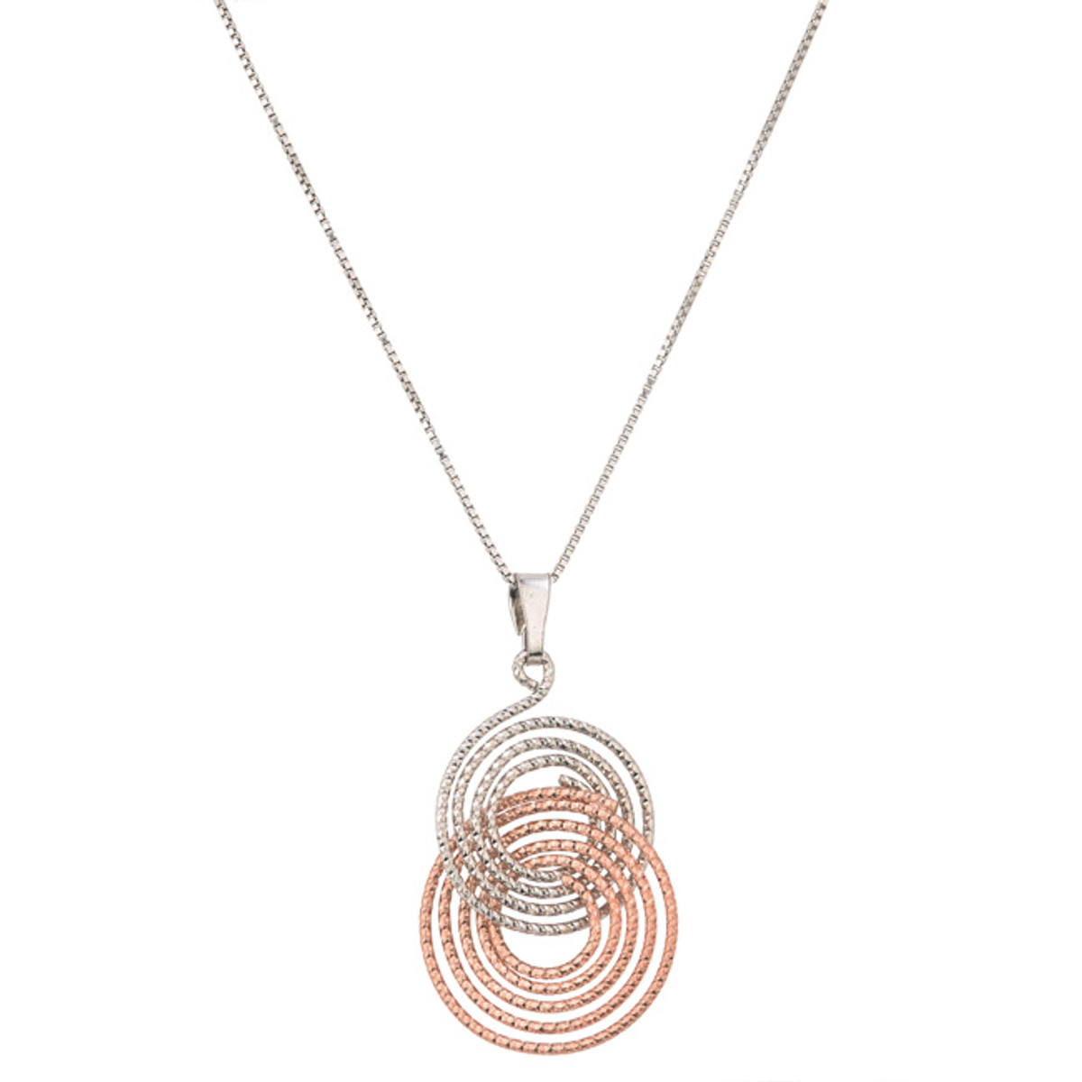 Sterling Silver Rose Gold Elsa, Frederic Duclos Necklace