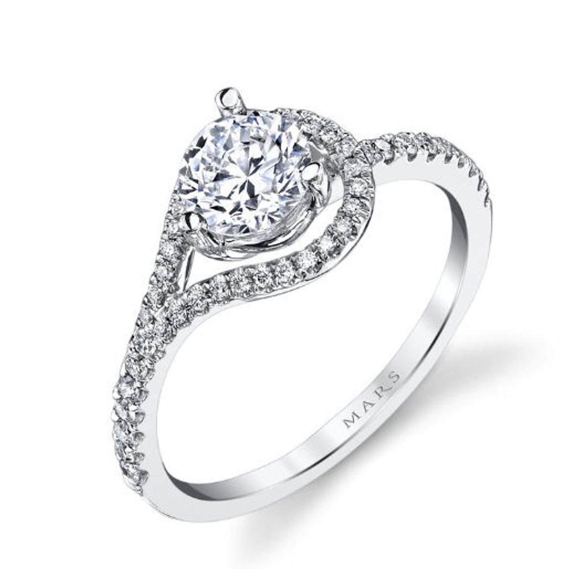 Asymmetric Infinity Diamond Engagement Ring