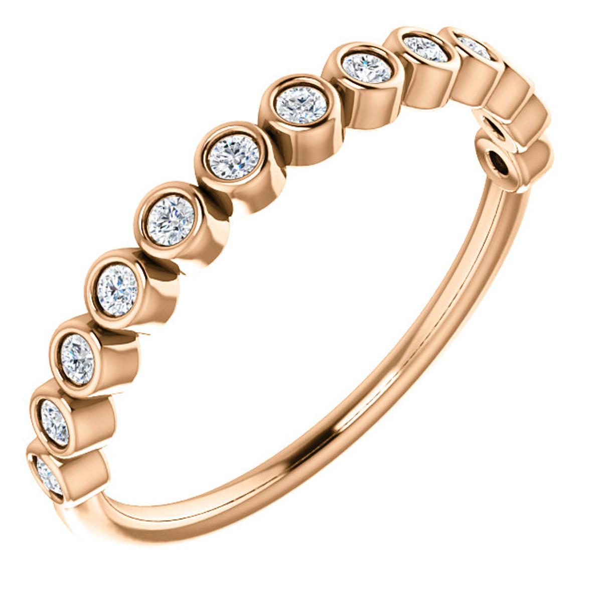 Rose Gold Bezel Anniversary Ring