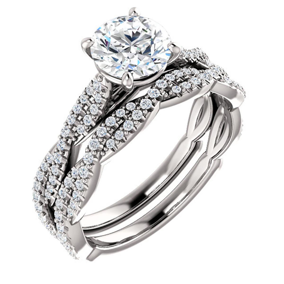 Twisted Diamond Bridal Set