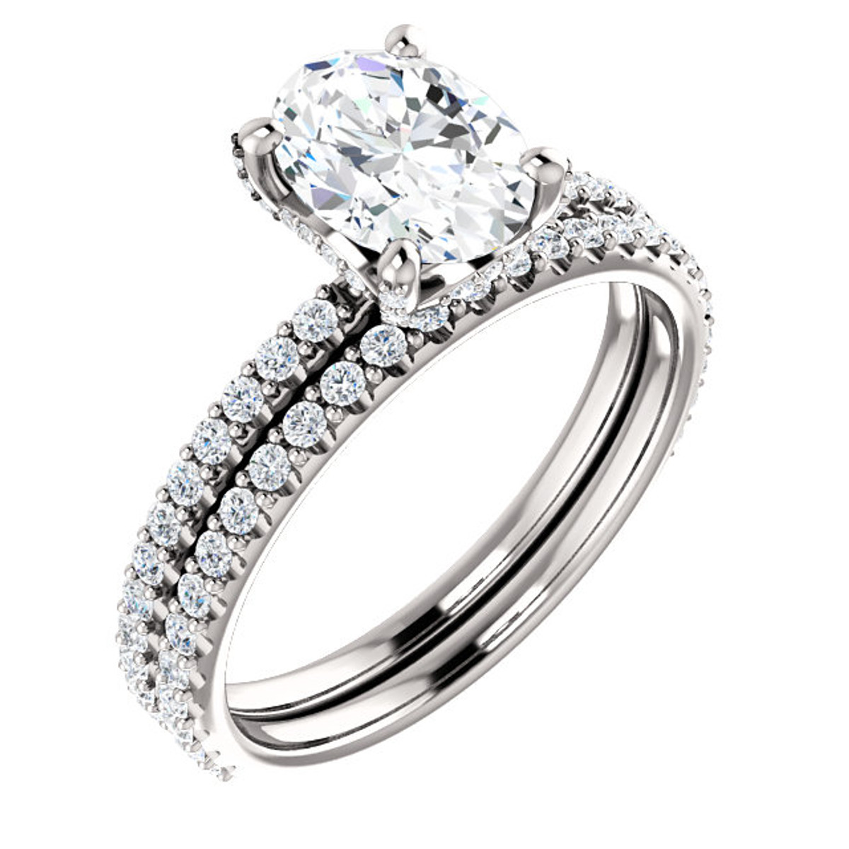 Oval Cut Diamond Bridal Set