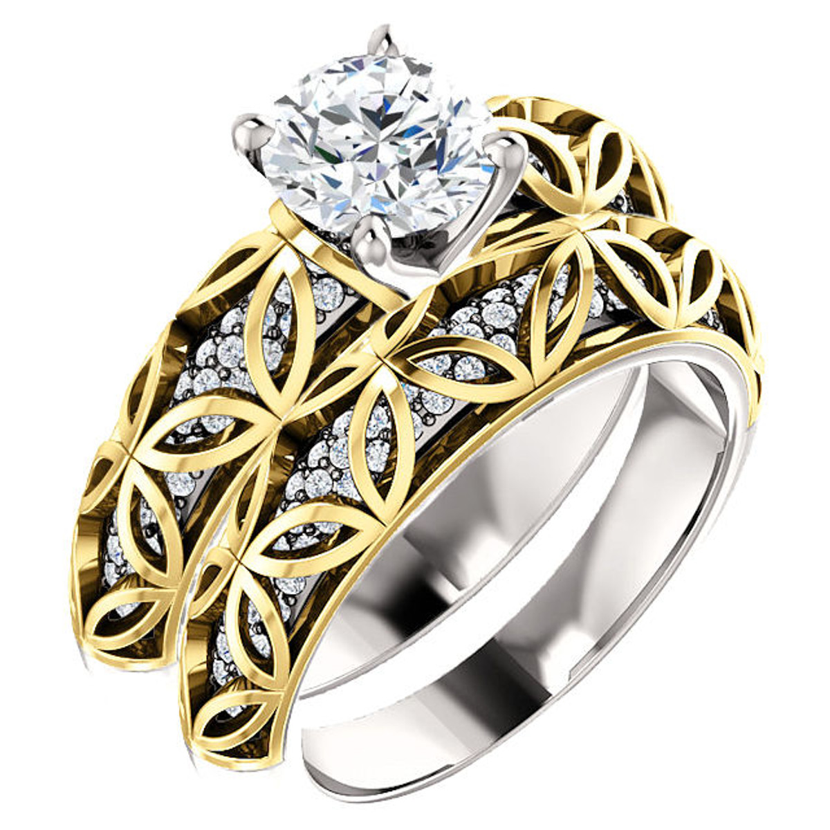 Two-Tone Diamond Bridal Set