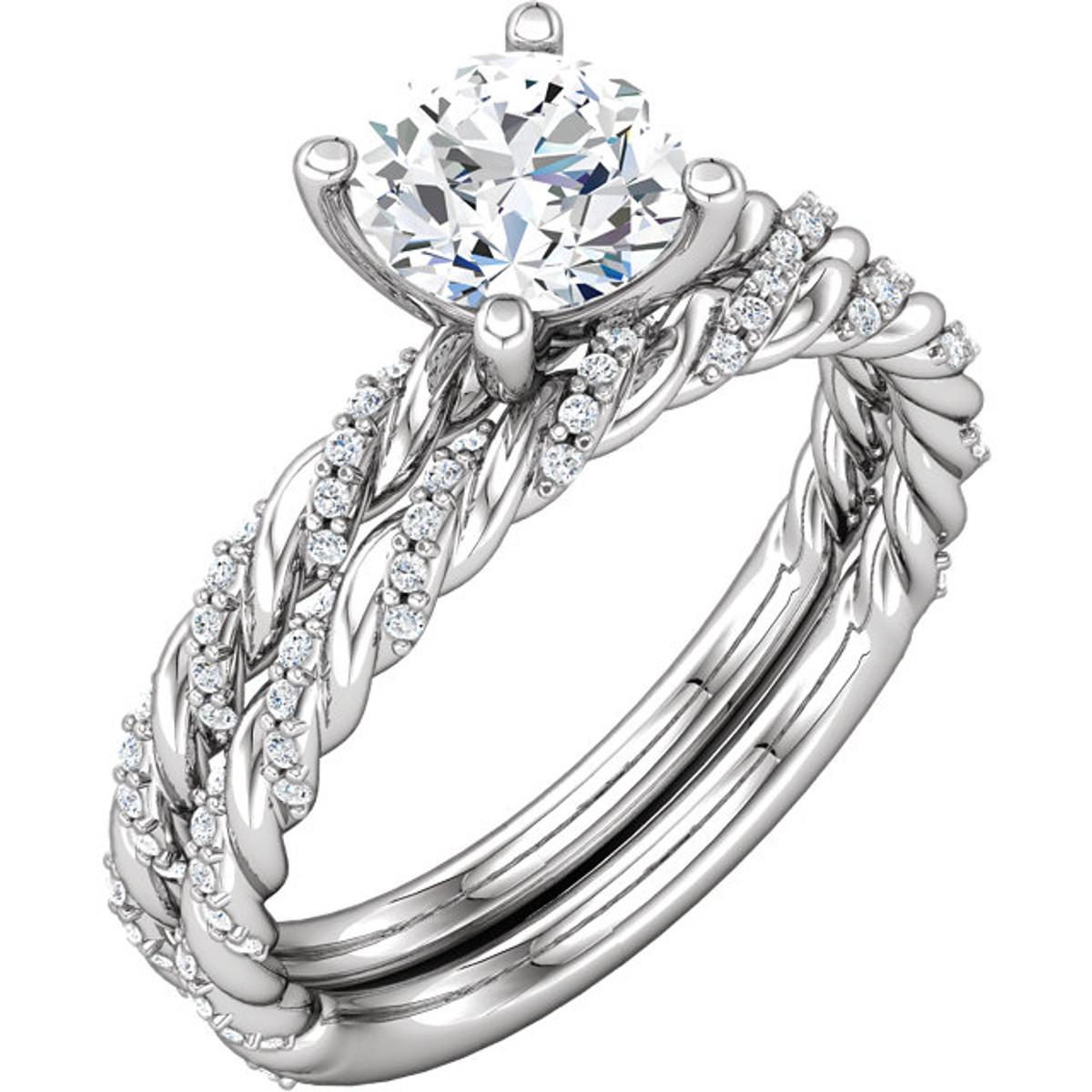 Diamond Roped Bridal Set
