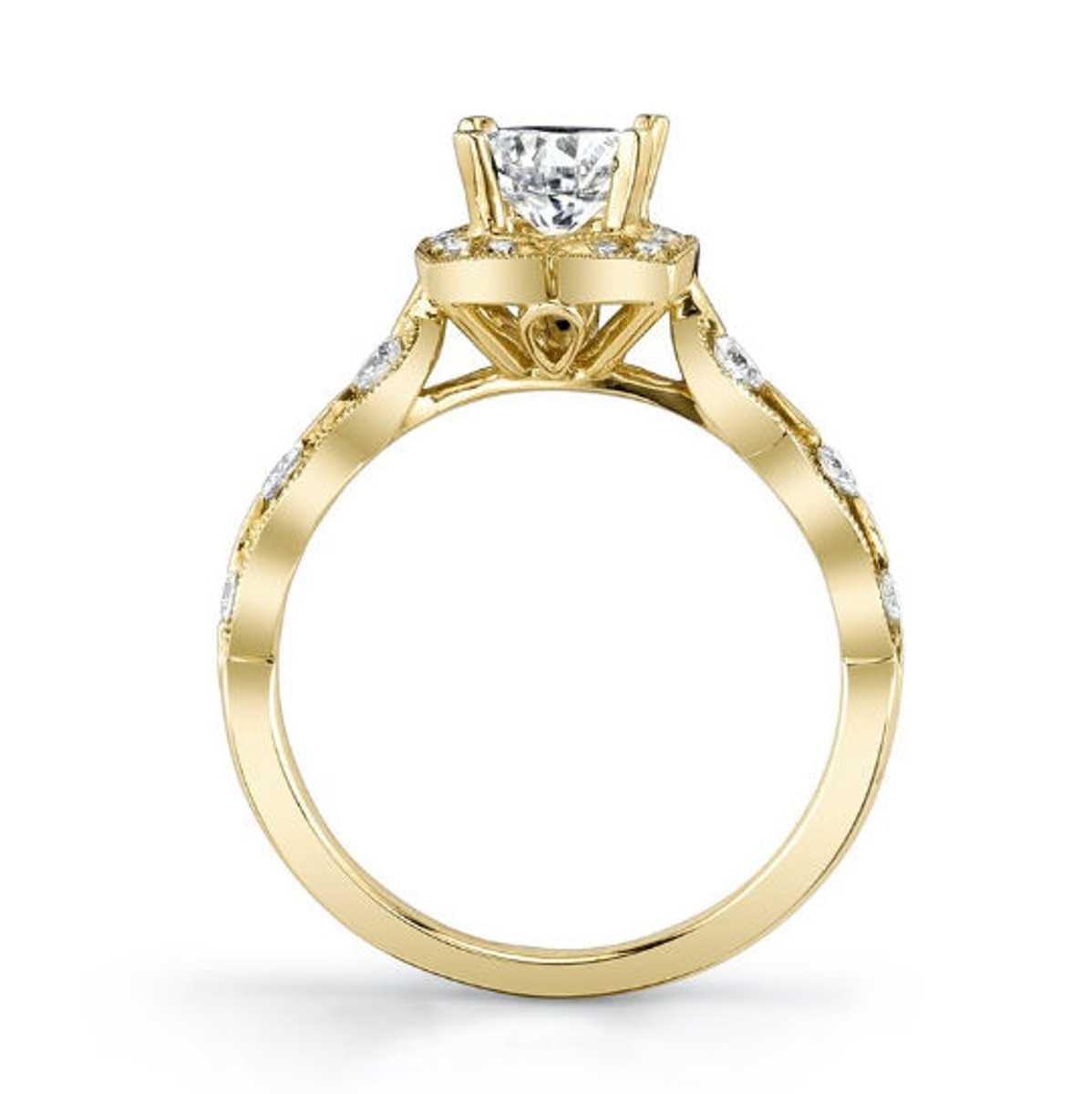 Yellow Gold Engagement Ring Side View
